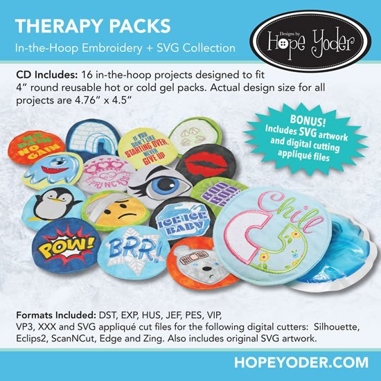 Hope Yoder Therapy Packs Embroidery Collection