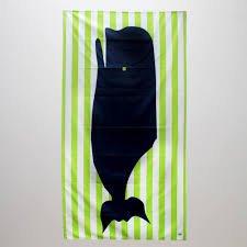 TRS Kid's Whale Beach Towel Lime/Navy