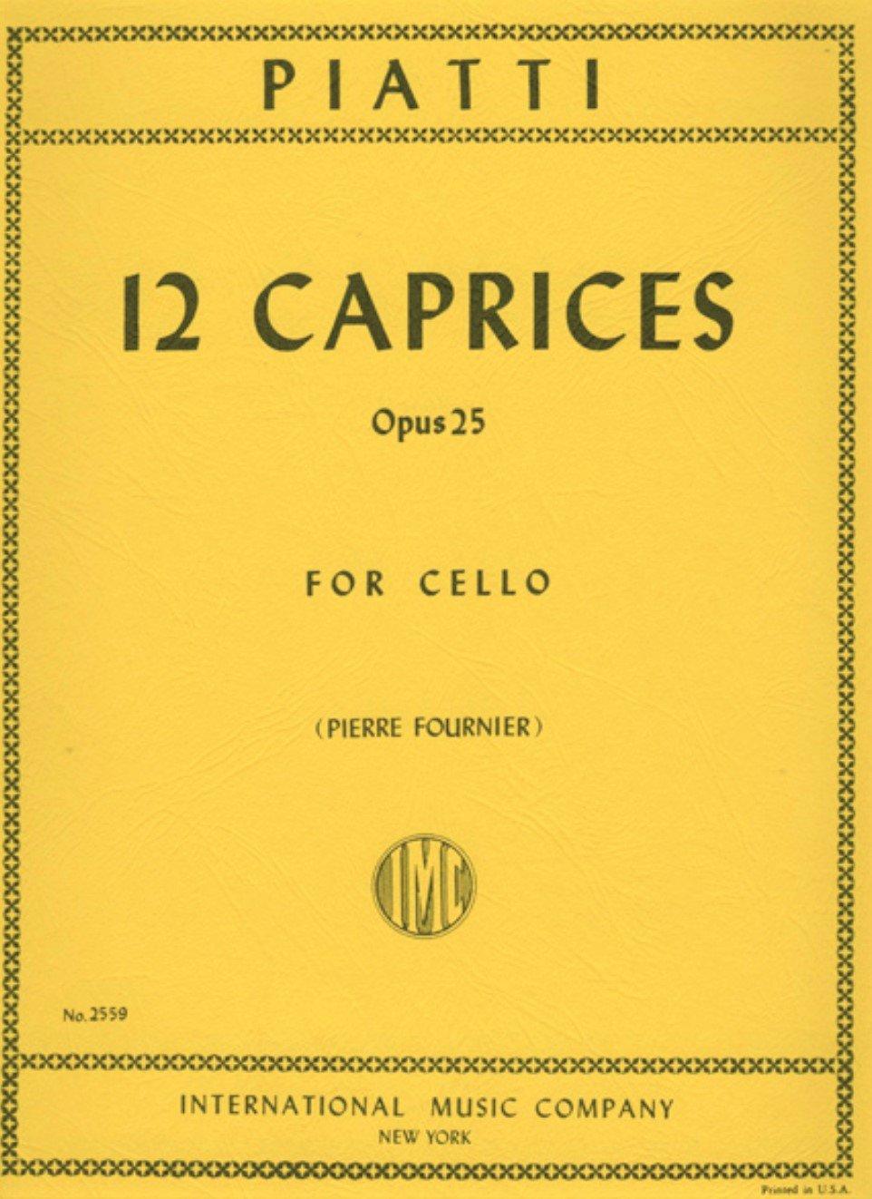 12 Caprices Op 25 - Piatti - Cello - Fournier - International