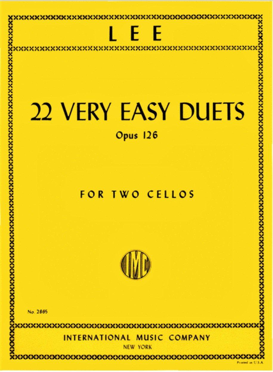 22 Very Easy Duets Op 126 - Lee - Cello - International