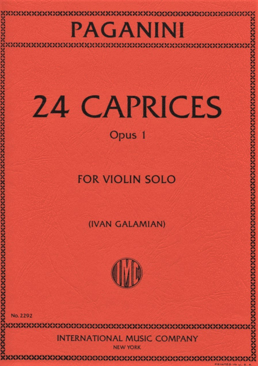 24 Caprices Op 1 - Paganini - Violin - Galamian - International