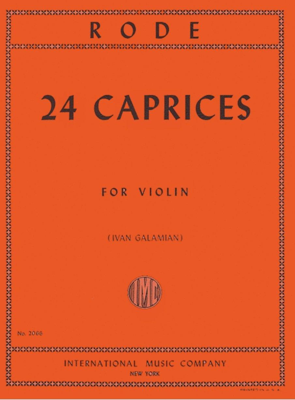 24 Caprices - Rode - Violin - Galamian - International