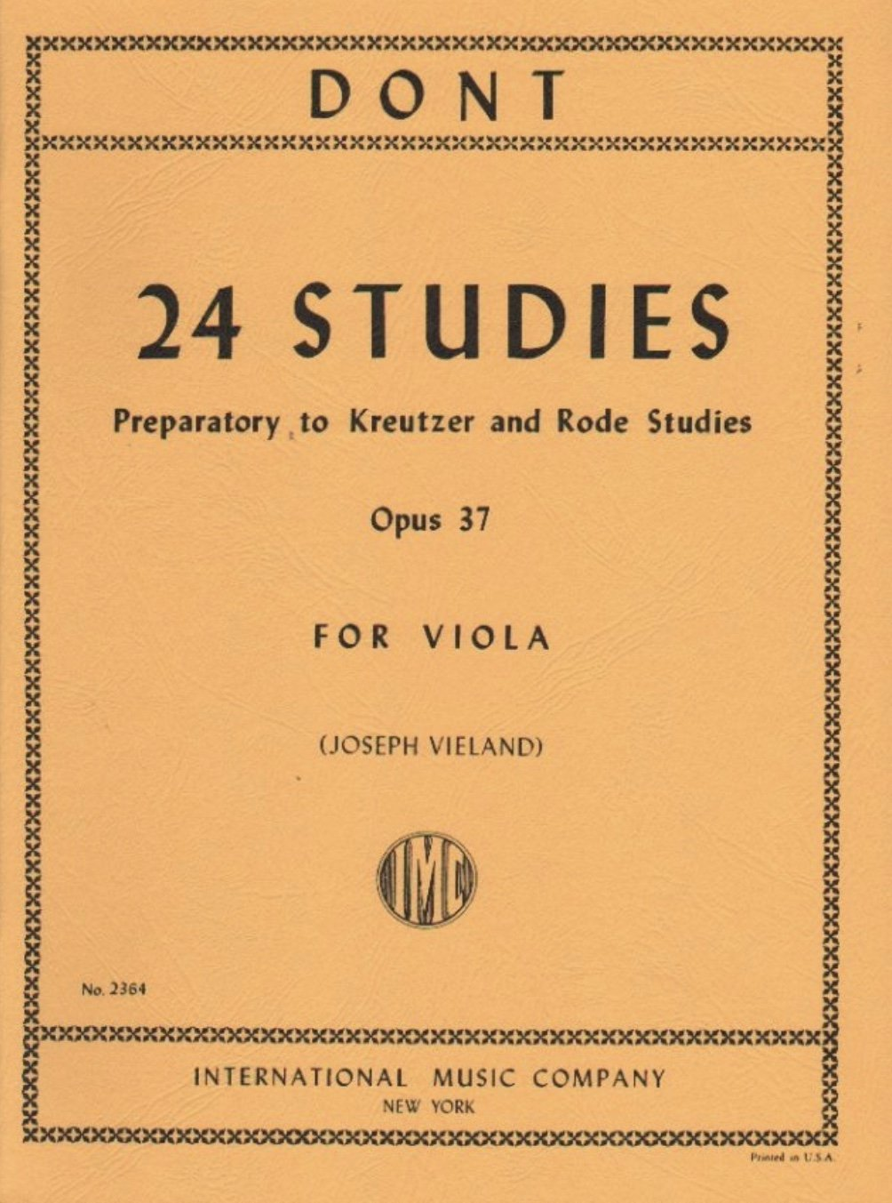 24 Studies Op 37 - Dont - Viola - Vieland - International