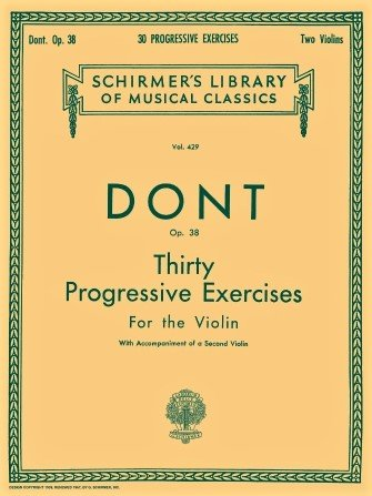 30 Progressive Exercises Op 38 - Dont - Violin - G.Schirmer