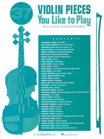 37 Violin Pieces You Like to Play - Various - Violin - G.Schirmer