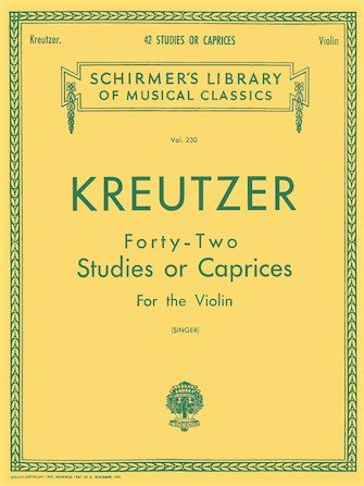 42 Studies - Kreutzer - Violin - Singer - G. Schirmer