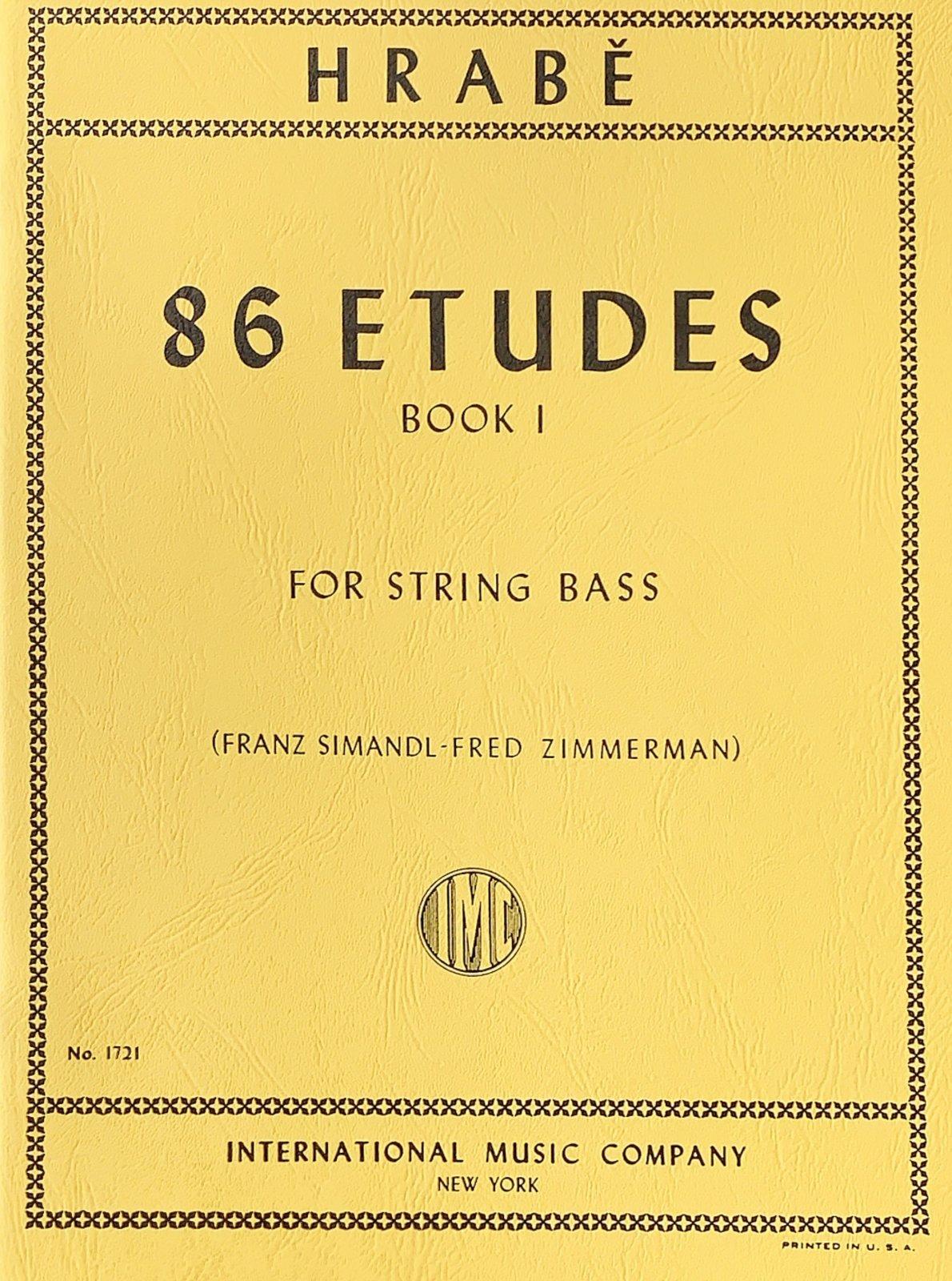 86 Etudes Book 1 - Hrabe - Bass - Zimmerman - International