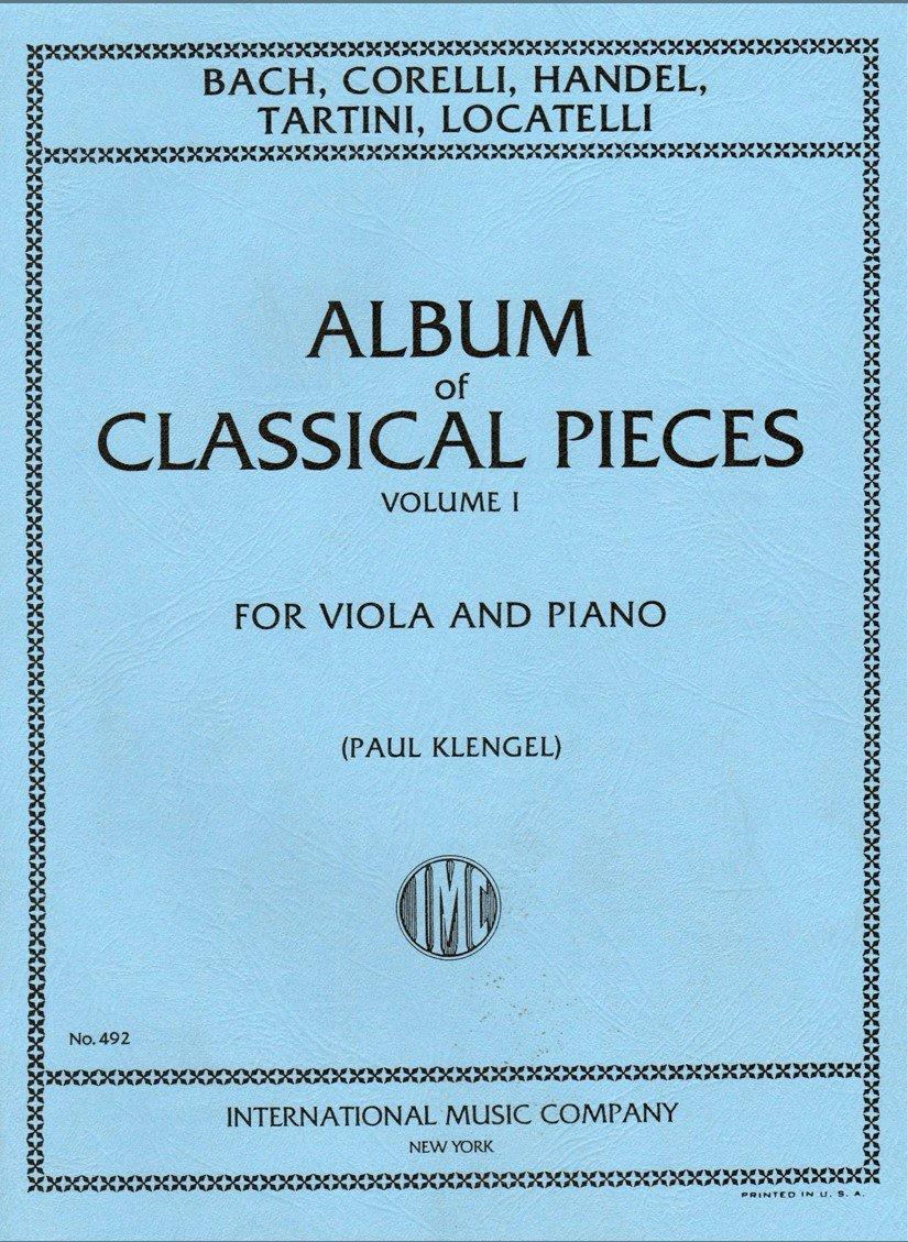 Album of Classical Pieces Vol 1 - Viola and Piano - Klengel - International