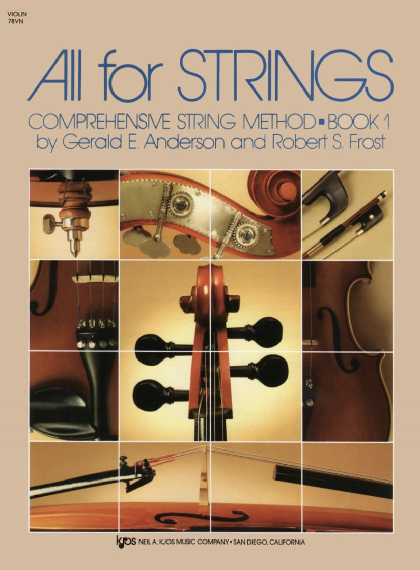 All For Strings Bk 1 - Anderson Frost - Violin - Kjos