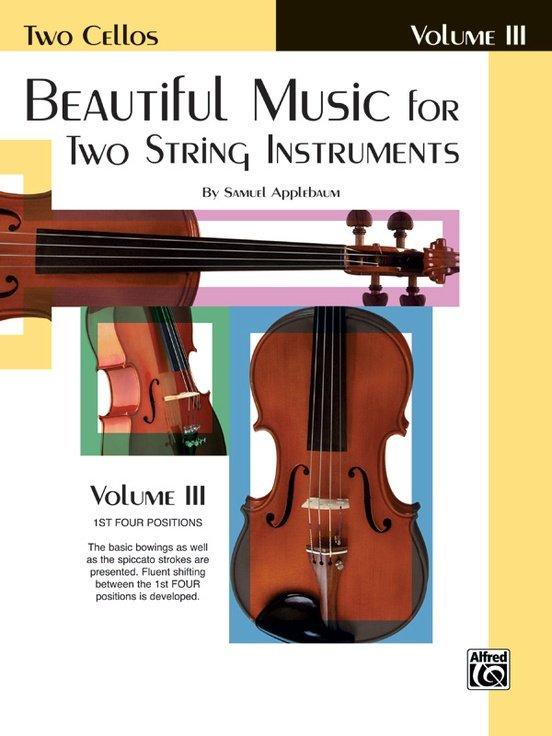 Beautiful Music for Two String Instruments Vol 3 - Applebaum - Cello Cello - Alfred
