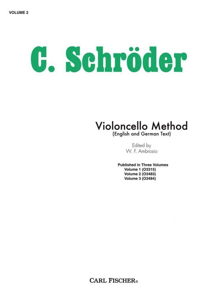 Violincello Method Vol. 2 - Schroeder - Cello - Ambrosia - Fischer