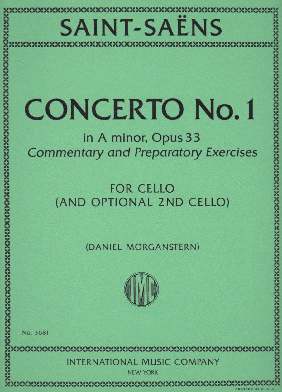 Concerto # 1 in A Minor Op 33 - Saint-Saens - Cello - Morganstern - International