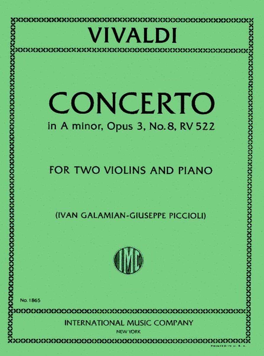 Concerto in A minor RV 522 - Two Violins and Piano - Vivaldi - Galamian - International