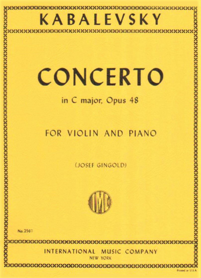 Concerto in C major Op 48 - Kabalevsky - Violin - International