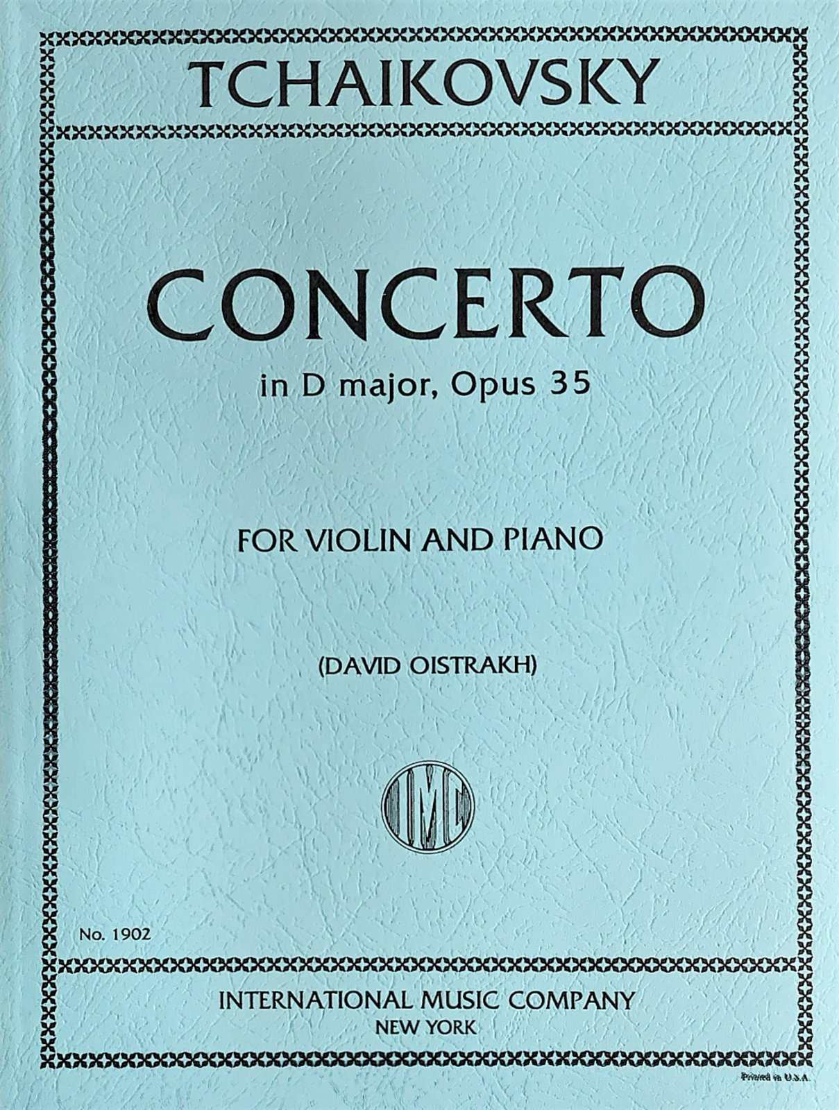 Concerto in D Major Op 35 - Tchaikovsky - Violin and Piano - Oistrakh - International