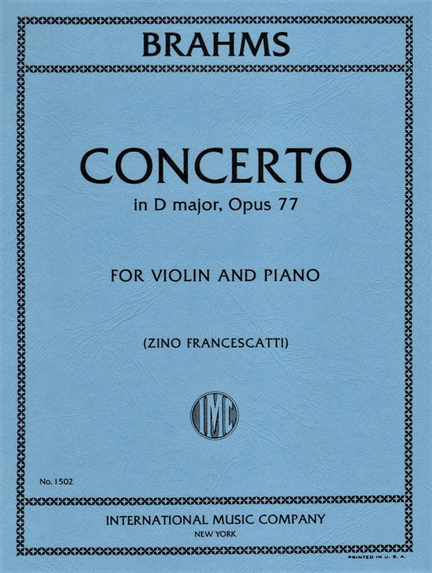 Concerto in D major Op 77 - Brahms - Violin - Francescatti - International