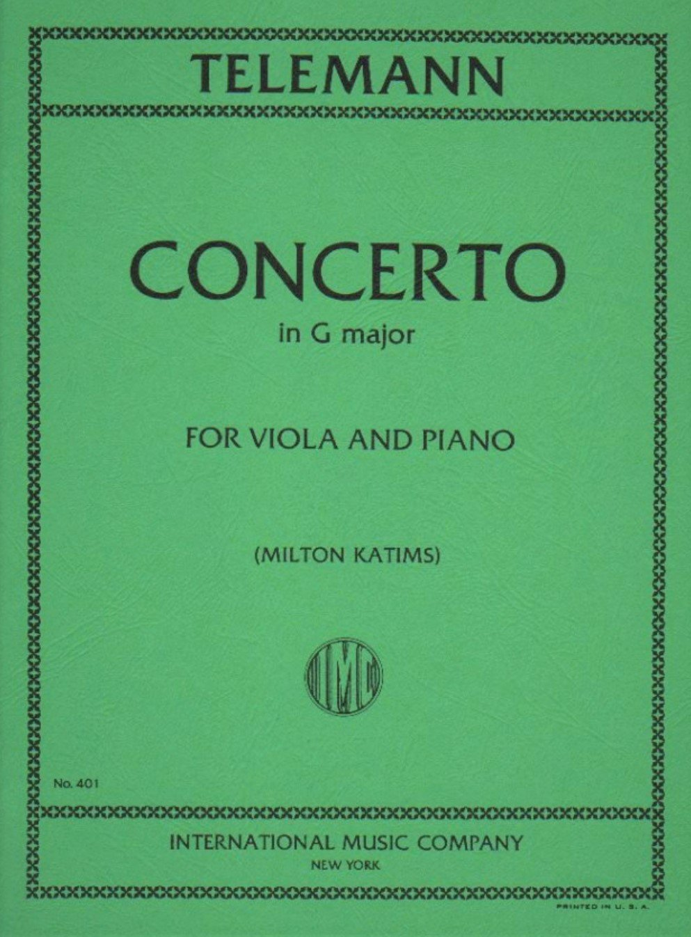 Concerto in G major - Telemann - Viola -  Katims - International