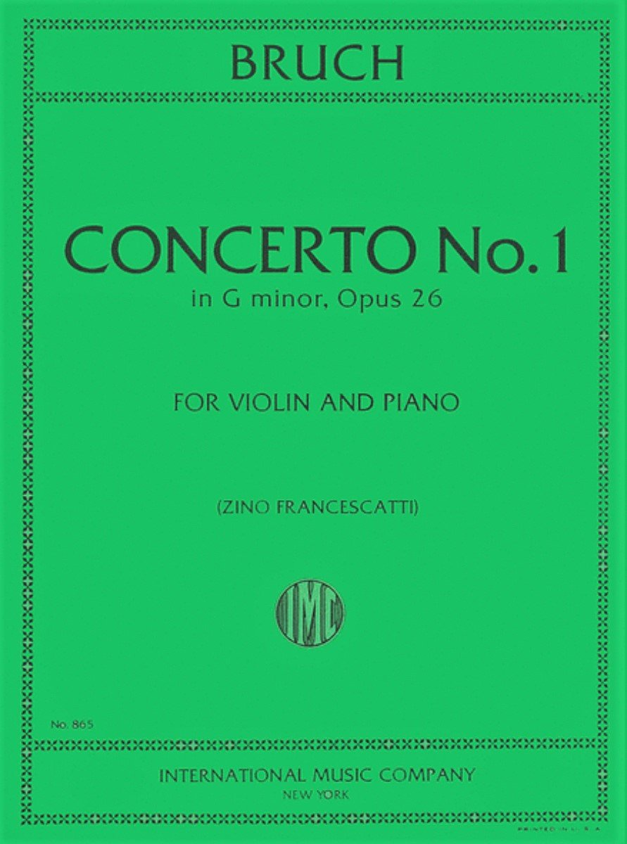 Concerto # 1 in G minor - Bruch - Violin - Francescatti - International