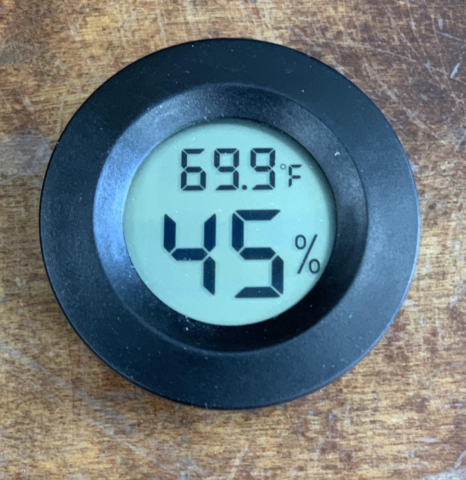 Hygrometer - Digital (Round)