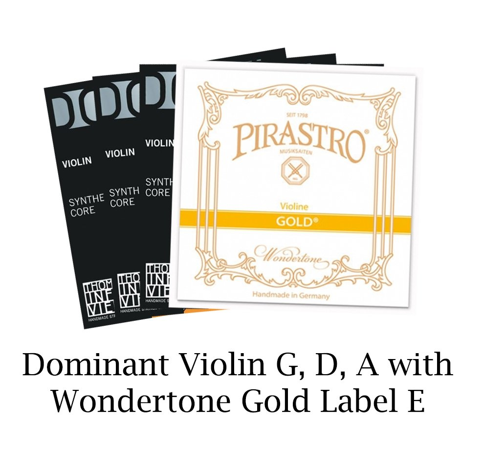 Dominant Violin Set with Gold Label E