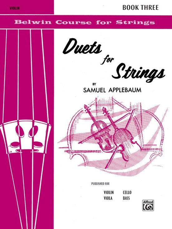 Duets for Strings Bk 3 - Applebaum - Violin - Alfred