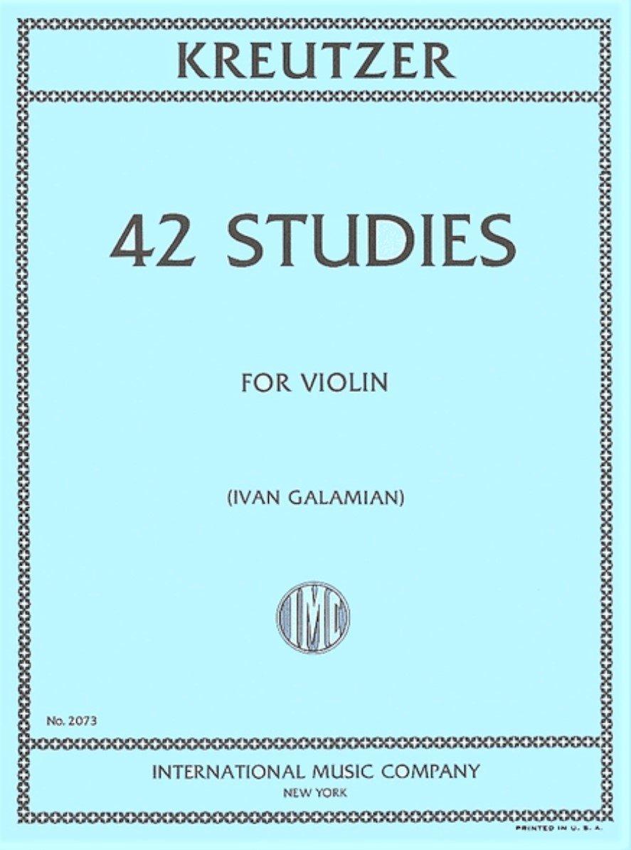 42 Studies - Kreutzer - Violin - Galamian - International