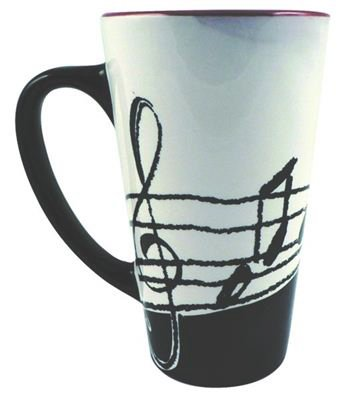 Latte Music Notes Mug