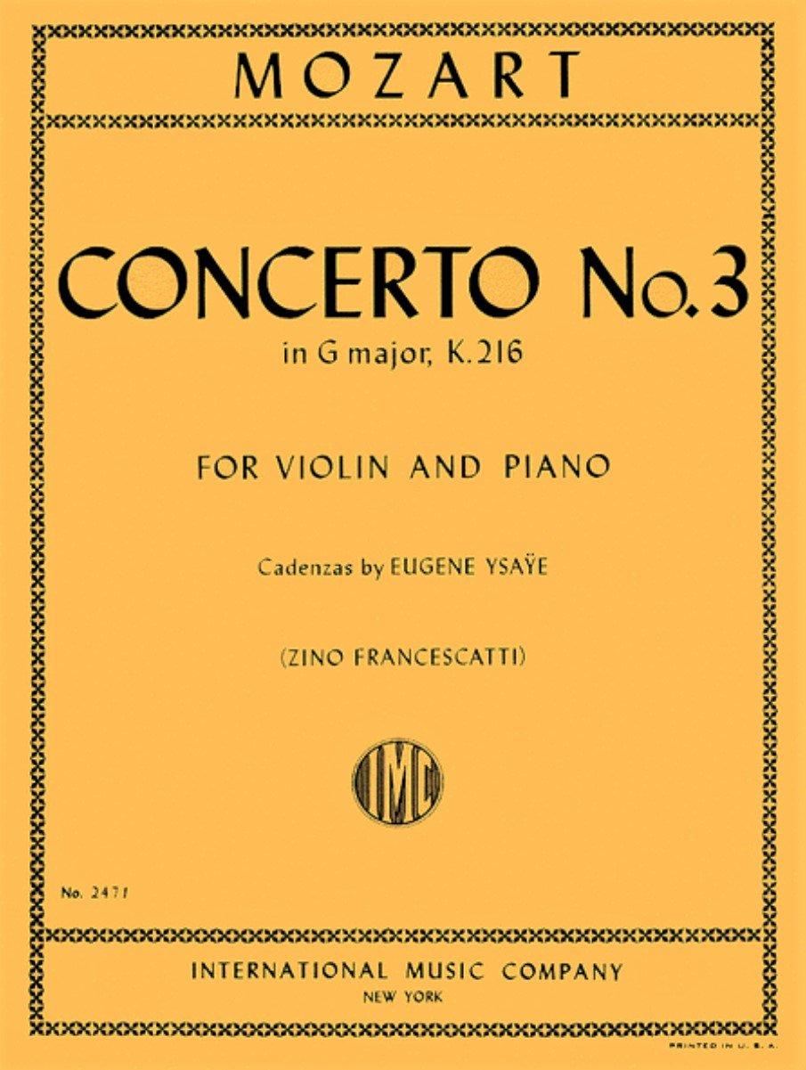 Concerto # 3 in G major K 216 - Mozart - Violin - Francescatti - International