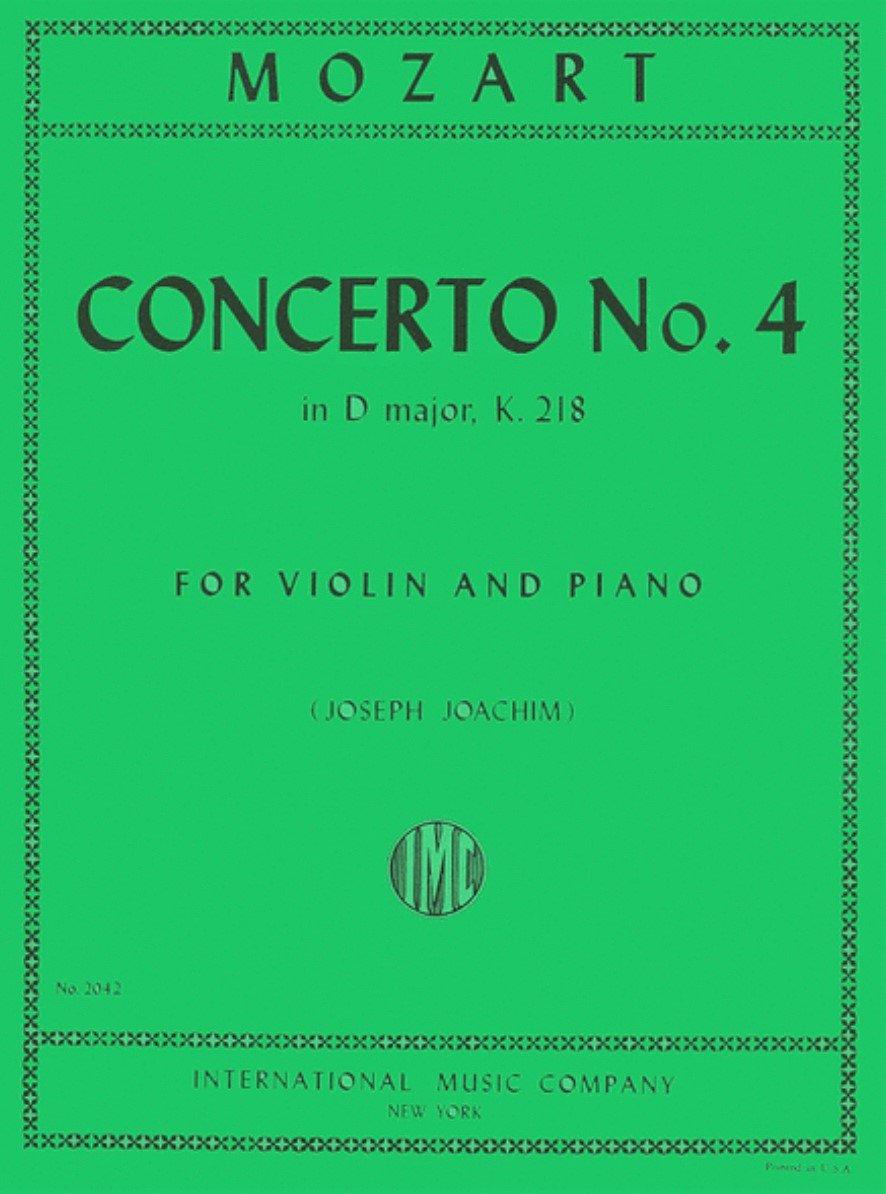 Concerto # 4 in D Major K 218 - Mozart - Violin and Piano - Joachim - International