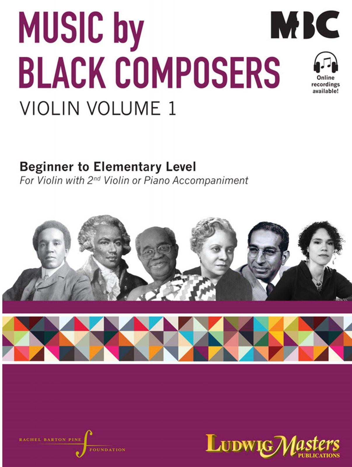 Music by Black Composers - Violin Volume 1 - Various - Arr. Rachel Barton Pine -  Violin Piano - Ludwig