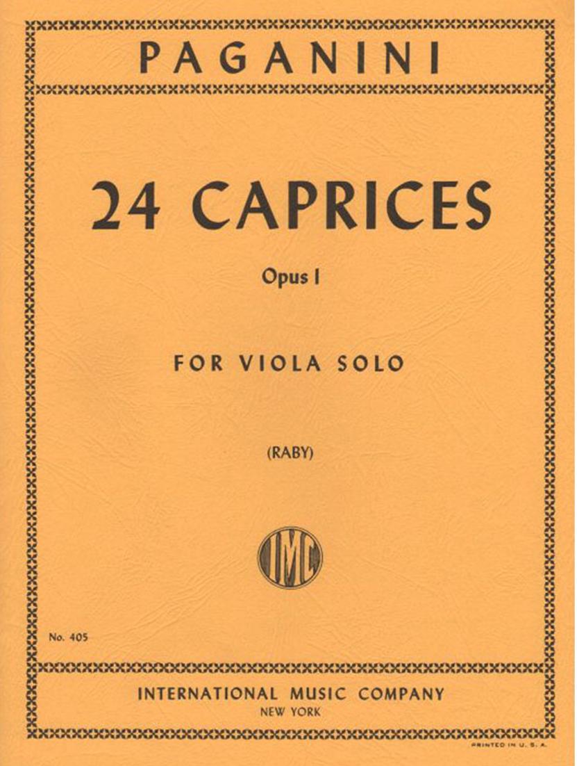 24 Caprices Op1 - Paganini - Viola - Raby - International
