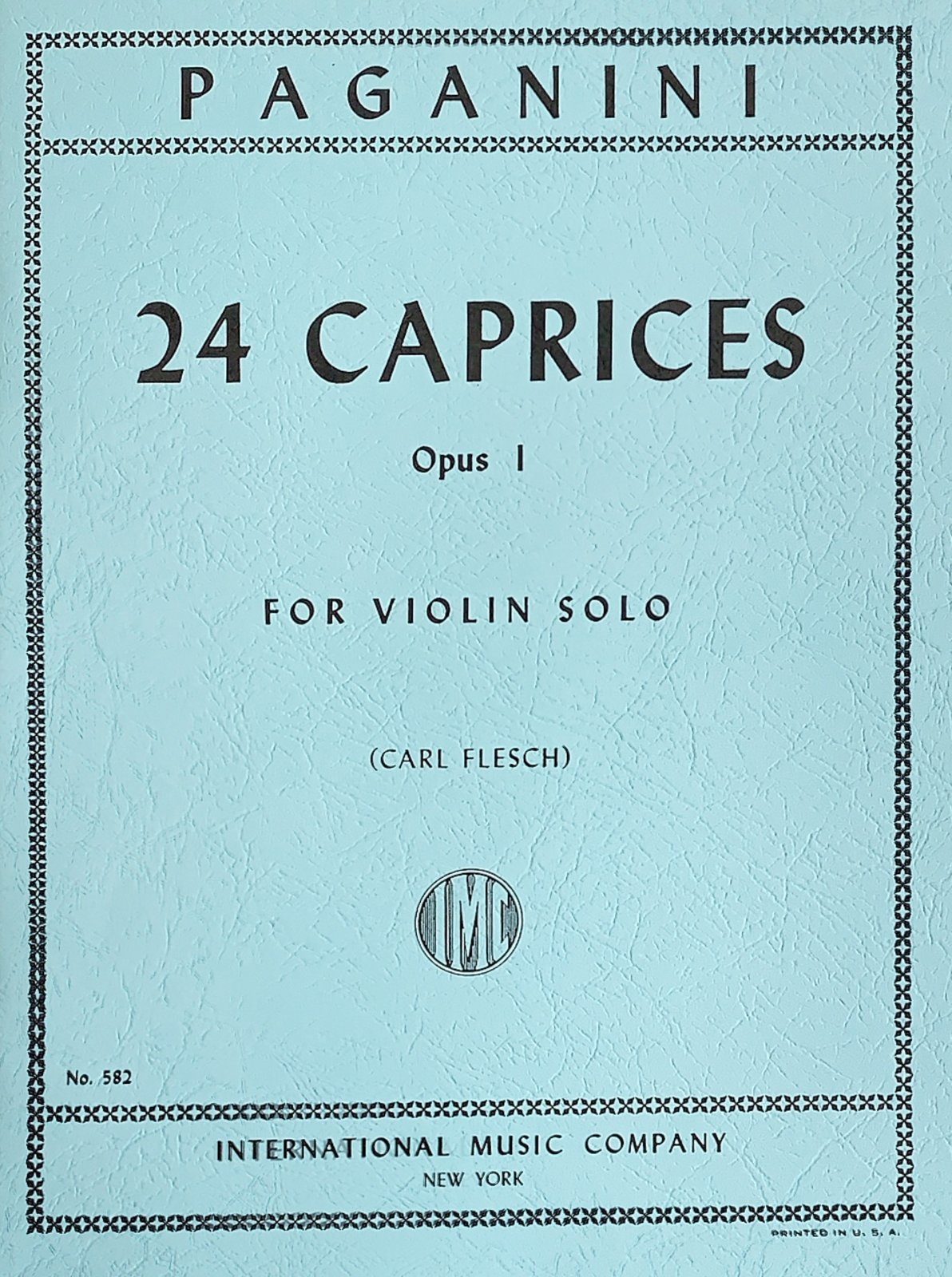 24 Caprices Op 1 - Paganini - Violin - Flesch - International