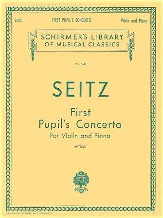 Pupils Concerto # 1 in D Op7 - Seitz - Violin Piano - Mittell - G.Schirmer