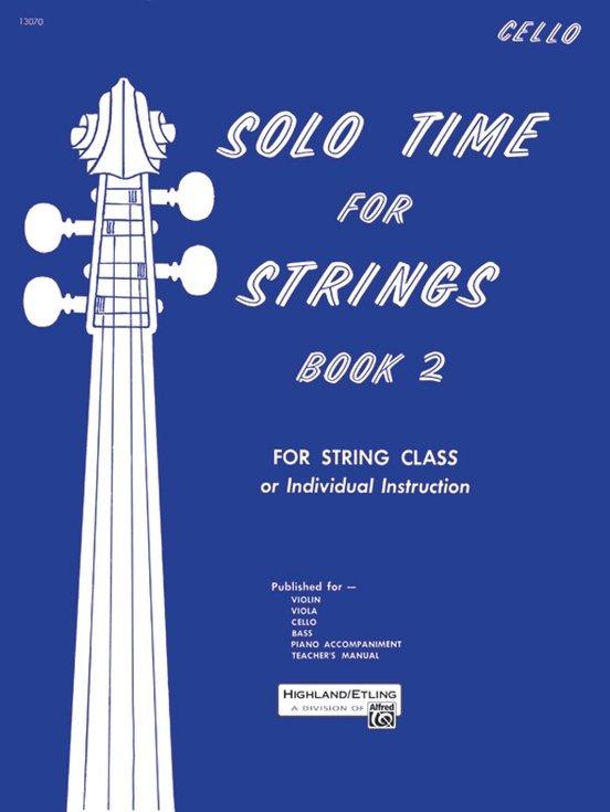 Solo Time For Strings Bk 2 - Etling - Cello - Alfred