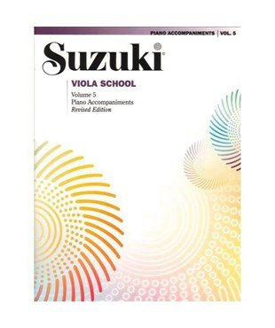 Suzuki Viola School Piano Accomp Vol 5 - Summy-Birchard