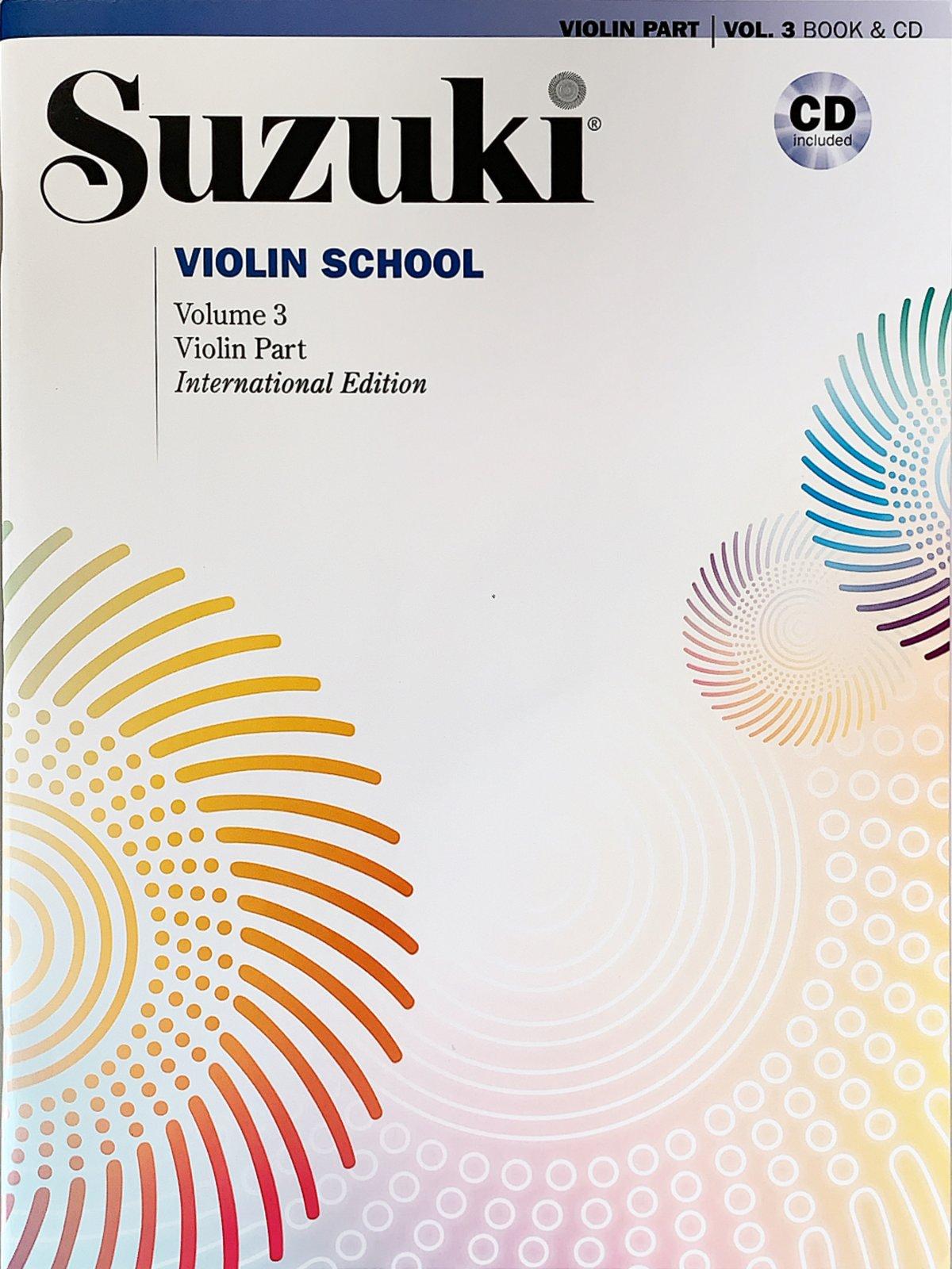 Suzuki Violin School Vol 3 and CD - Summy-Birchard