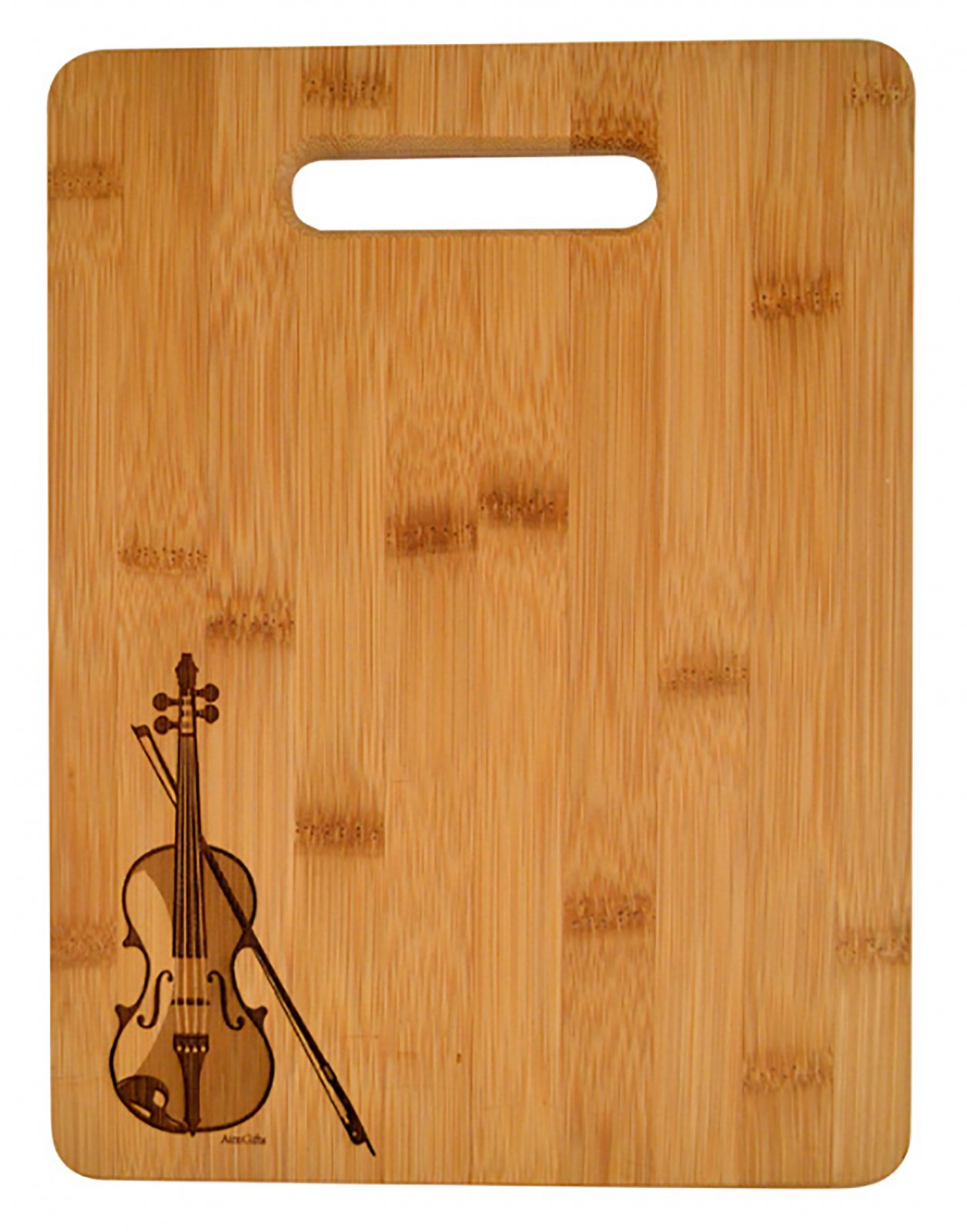 Cutting Board with Violin Engraved