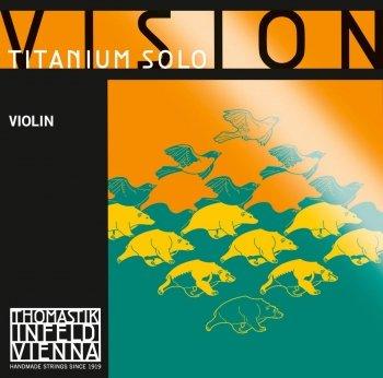 Vision Titan. Solo Violin E 4/4 (Stainless Steel) (Black Stripe)