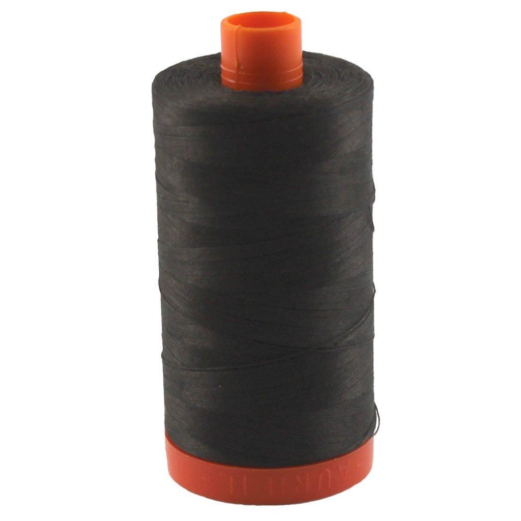 1130 Very Dark Brown - Aurifil 50 WT 100% Cotton Mako Large Spool Thread