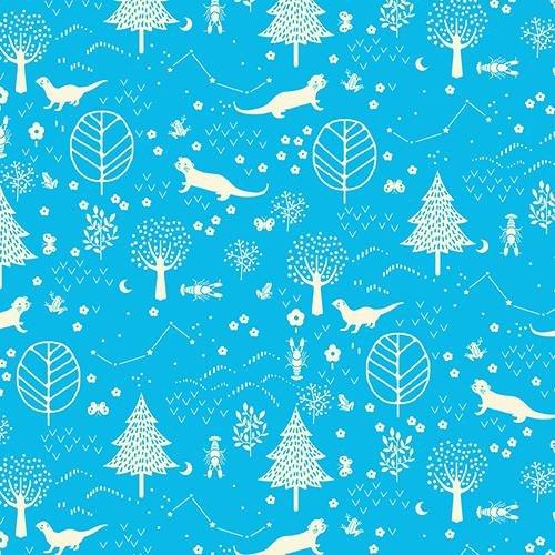 Otter Romp Forest Blue