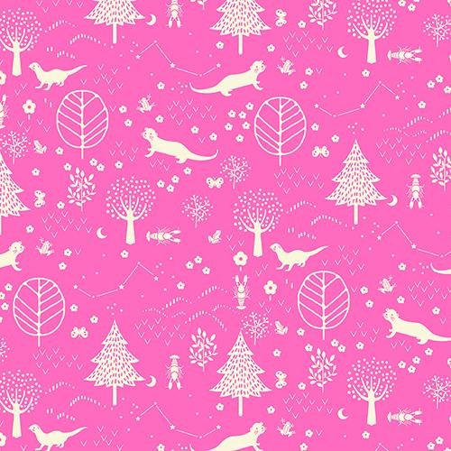 Otter Romp Forest PInk