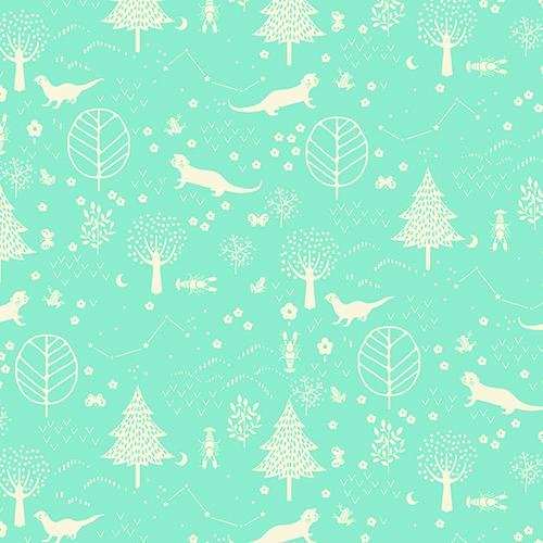 Otter Romp Forest Turquoise