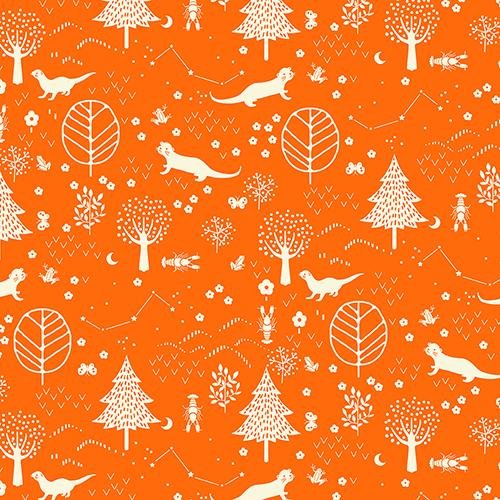 Otter Romp Forest Orange