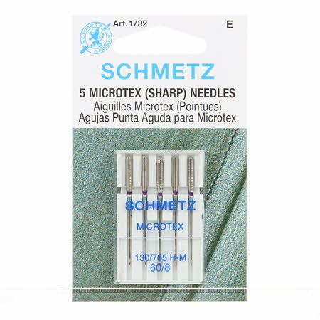 Schmetz Sharp / Microtex Machine Needle Size 8/60
