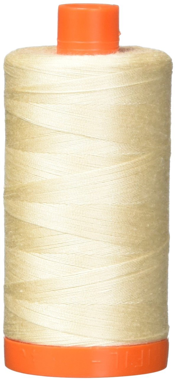 2000 Lt Sand - Aurifil 50 WT 100% Cotton Mako Large Spool Thread