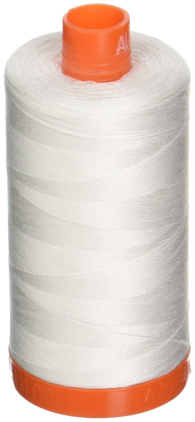 2021 Natural White - Aurifil 50 WT 100% Cotton Mako Large Spool Thread