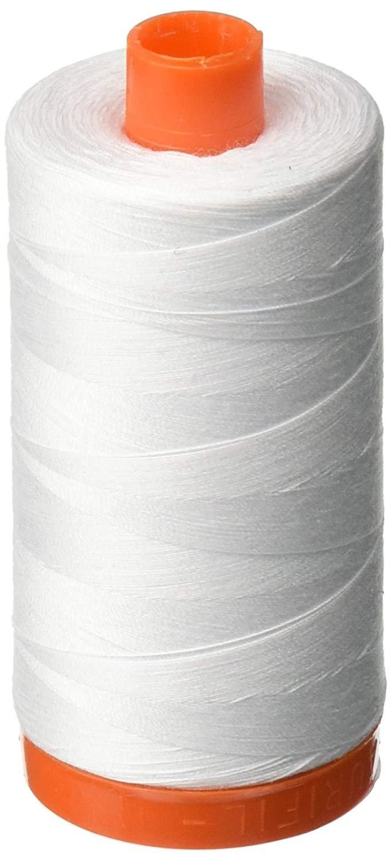 2024 White - Aurifil 50 WT 100% Cotton Mako Large Spool Thread