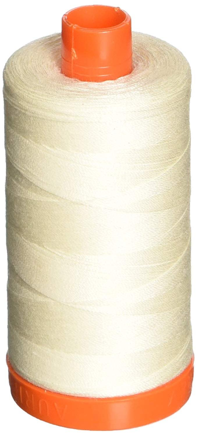 2026 Chalk - Aurifil 50 WT 100% Cotton Mako Large Spool Thread