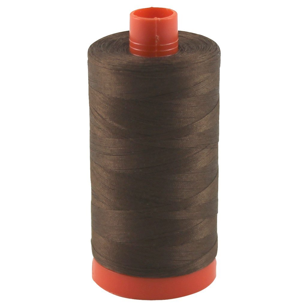 2360 Chocolate - Aurifil 50 WT 100% Cotton Mako Large Spool Thread