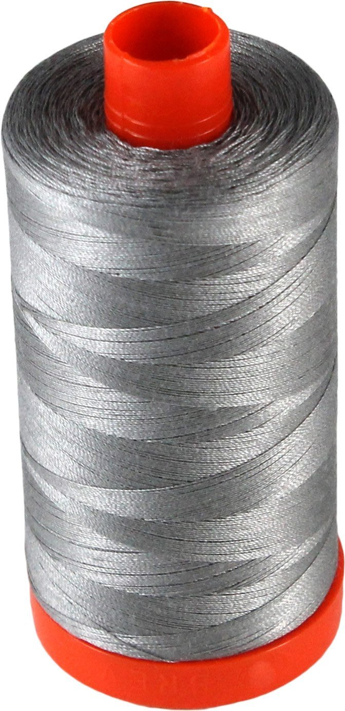 2620 Stainless Steel - Aurifil 50 WT 100% Cotton Mako Large Spool Thread